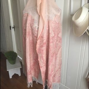 Anne Klein Wool scarf - paisley multi pink